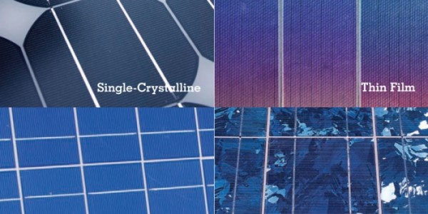 Solar-electric (PV) cell types.